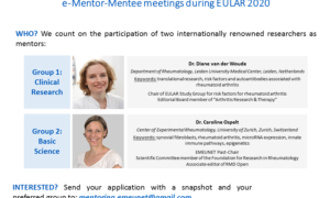 EMEUNET e-Mentor Mentee meeting at EULAR 2020