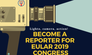 Lights, camera, action! Want to become a reporter for the EULAR 2019 congress?